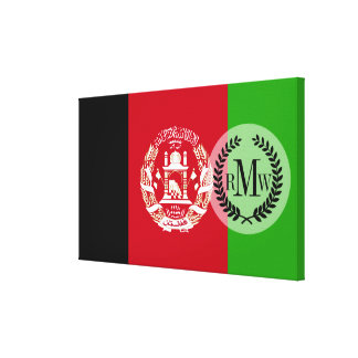 Afghanistan Flag Canvas Print