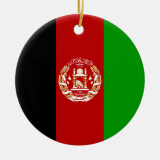 Afghanistan Flag Ceramic Ornament