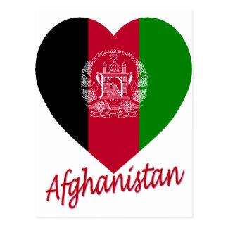 Afghanistan Flag Heart Postcard