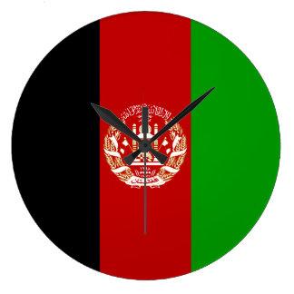 Afghanistan Flag Large Clock