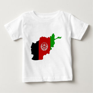 Afghanistan Flag Map full size Baby T-Shirt