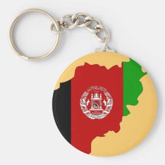 Afghanistan flag map keychain