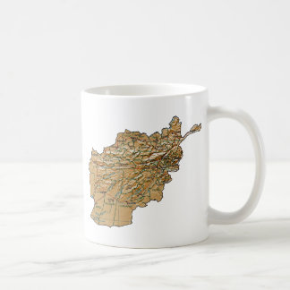 Afghanistan Flag ~ Map Mug
