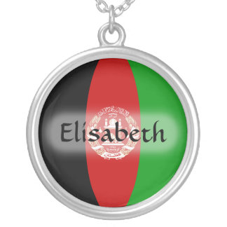 Afghanistan Flag + Name Necklace