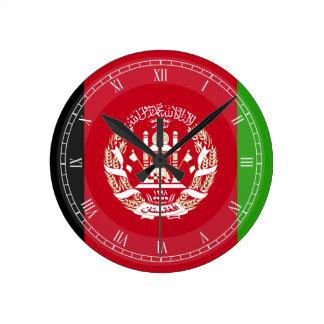 Afghanistan Flag Round Clock