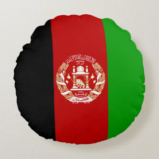 Afghanistan Flag Round Pillow