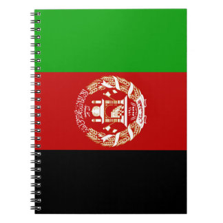 Afghanistan Flag Spiral Notebook