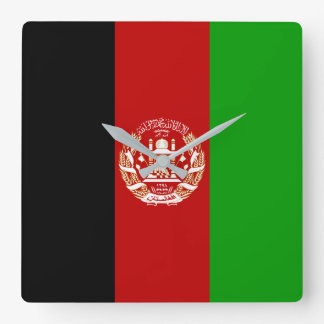 Afghanistan Flag Square Wall Clock