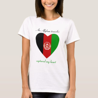 Afghanistan Flag Sweetheart T-Shirt