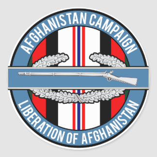Afghanistan Liberation CIB Classic Round Sticker
