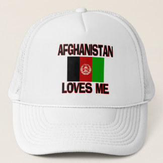 Afghanistan Loves Me Trucker Hat
