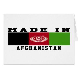Afghanistan Made In Designs Card