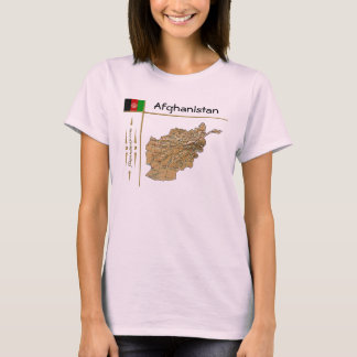 Afghanistan Map + Flag + Title T-Shirt