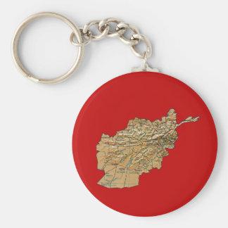Afghanistan Map Keychain