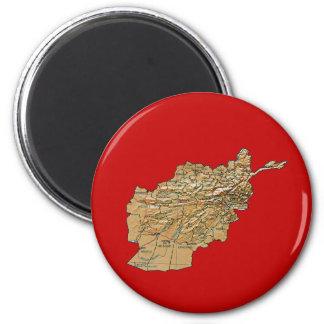 Afghanistan Map Magnet