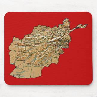 Afghanistan Map Mousepad