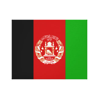 Afghanistan National World Flag Canvas Print
