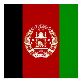 Afghanistan National World Flag Perfect Poster