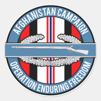 Afghanistan OEF CIB Classic Round Sticker
