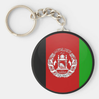 Afghanistan quality Flag Circle Keychain
