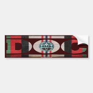 Afghanistan Ribbon Doc - CMB Bumper Sticker