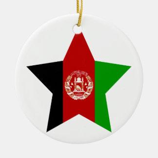 Afghanistan Star Ceramic Ornament