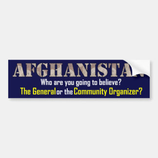Afghanistan Strategy Bumper Sticker