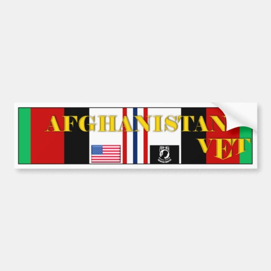 AFGHANISTAN VET BUMPER STICKER