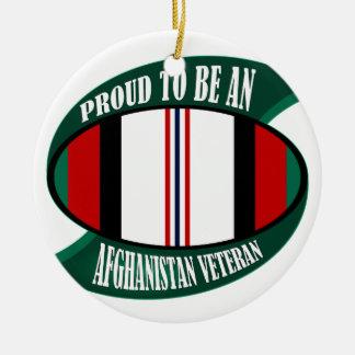 Afghanistan Vet Ceramic Ornament
