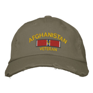 Afghanistan Veteran Bronze Star with V Embroidered Hat