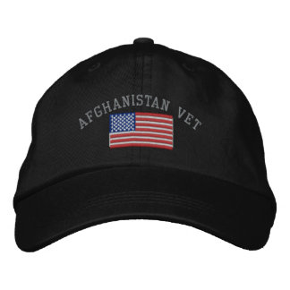 Afghanistan Veteran Patriotic Military Embroidered Hats