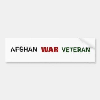 AFGHANISTAN WAR VETERANS BUMPER STICKER