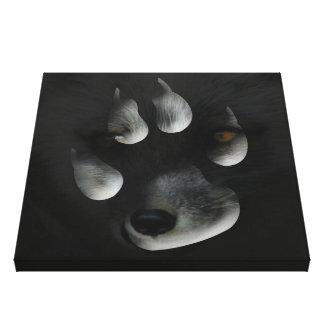 AFIPP Arctic Fox in Paw Print Canvas Print