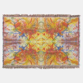 Aflame with Flower Acrylic Art Quad Throw Blanket