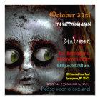 Afraid Doll Scary Halloween Semi Gloss Invitation