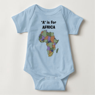 """AFRICA2, """"A"""" is for AFRICA Baby Bodysuit"""