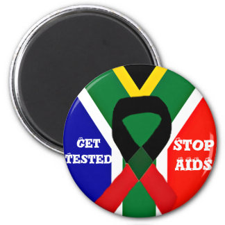 Africa,AIDS Awareness_ 2 Inch Round Magnet