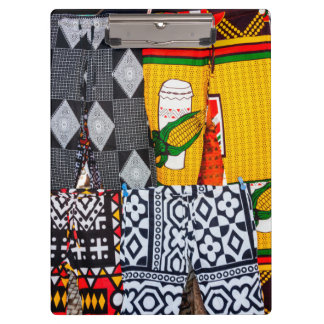 Africa, Angola, Benguela. Brightly Colored Pants Clipboard