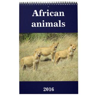 africa animals 2016 calendars