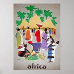 Africa Art Deco Vintage Poster