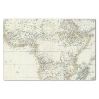 Africa Atlas Map Tissue Paper