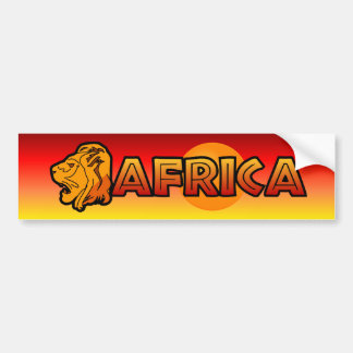 Africa Bumpersticker Bumper Sticker