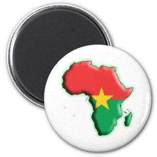 AFRICA: BURKINA FASO 2 INCH ROUND MAGNET