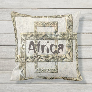 Africa Cheetah Background with Thee Art Frames Throw Pillow