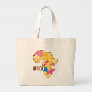 AFRICA colour map nation Large Tote Bag