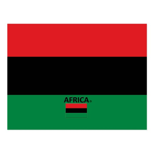 Africa Country Flag Postcard