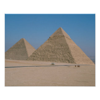 Africa - Egypt - Cairo - Great Pyramids of Giza, Poster