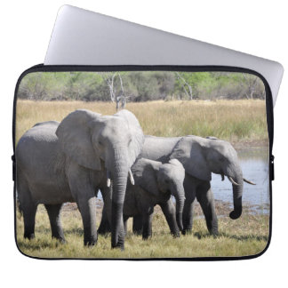 Africa Elephant Herds Laptop Sleeve