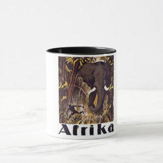 Africa Elephant Vintage Poster Mug