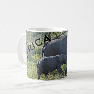 Africa Elephants Mother Elephant and Baby Coffee Mug